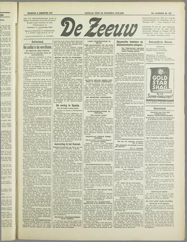 De Zeeuw. Christelijk-historisch nieuwsblad voor Zeeland 1937-08-09