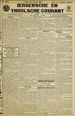 Ierseksche en Thoolsche Courant 1925-10-16