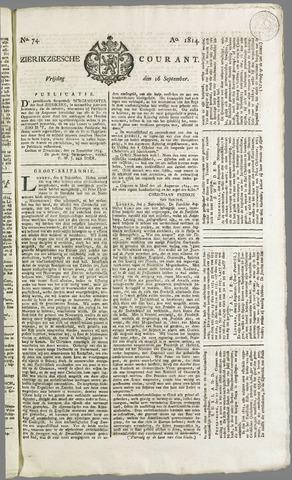 Zierikzeesche Courant 1814-09-16