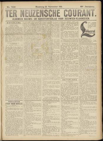 Ter Neuzensche Courant. Algemeen Nieuws- en Advertentieblad voor Zeeuwsch-Vlaanderen / Neuzensche Courant ... (idem) / (Algemeen) nieuws en advertentieblad voor Zeeuwsch-Vlaanderen 1921-11-21