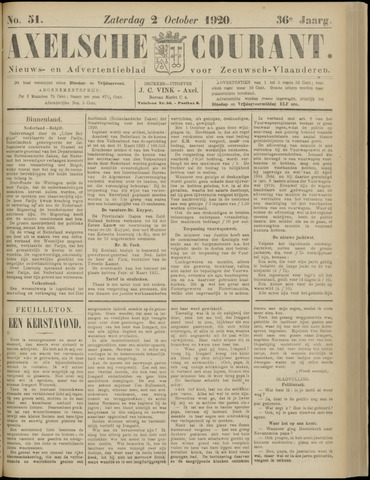 Axelsche Courant 1920-10-02