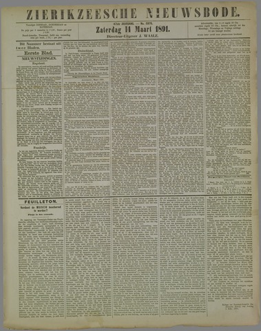 Zierikzeesche Nieuwsbode 1891-03-14