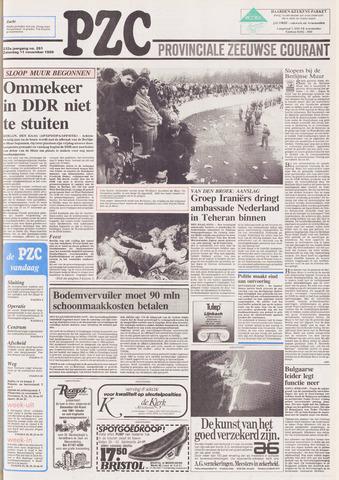 Provinciale Zeeuwse Courant 1989-11-11