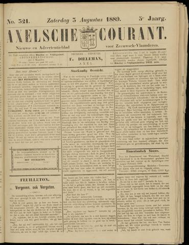 Axelsche Courant 1889-08-03