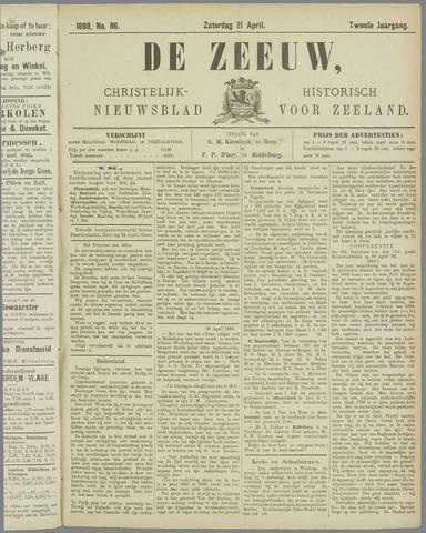 De Zeeuw. Christelijk-historisch nieuwsblad voor Zeeland 1888-04-21