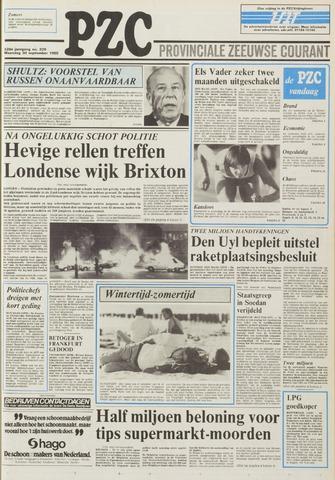 Provinciale Zeeuwse Courant 1985-09-30