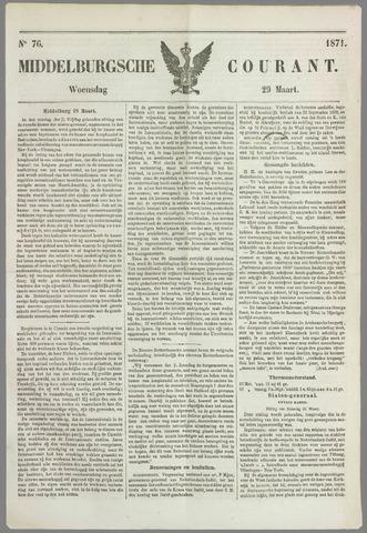 Middelburgsche Courant 1871-03-29