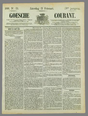 Goessche Courant 1891-02-21