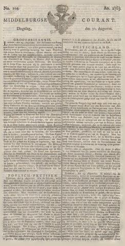 Middelburgsche Courant 1763-08-30