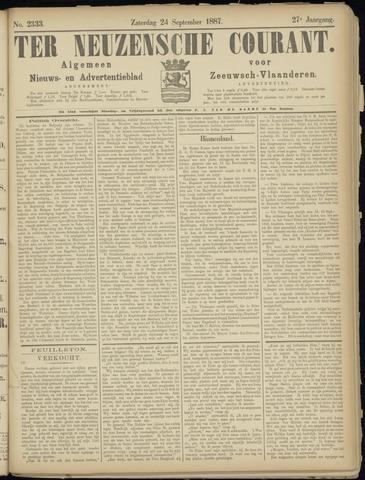 Ter Neuzensche Courant. Algemeen Nieuws- en Advertentieblad voor Zeeuwsch-Vlaanderen / Neuzensche Courant ... (idem) / (Algemeen) nieuws en advertentieblad voor Zeeuwsch-Vlaanderen 1887-09-24