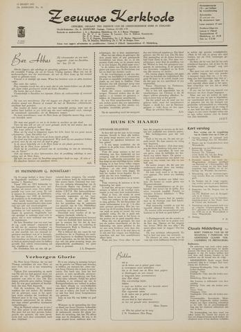 Zeeuwsche kerkbode, weekblad gewijd aan de belangen der gereformeerde kerken/ Zeeuwsch kerkblad 1970-03-12