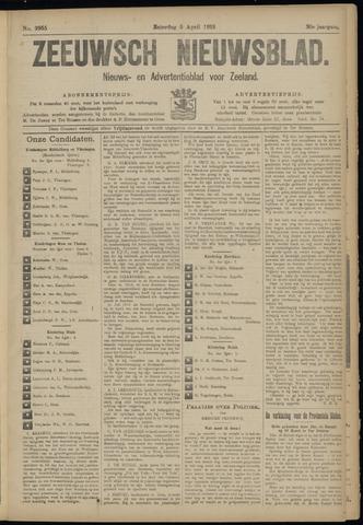 Ter Neuzensch Volksblad. Vrijzinnig nieuws- en advertentieblad voor Zeeuwsch- Vlaanderen / Zeeuwsch Nieuwsblad. Nieuws- en advertentieblad voor Zeeland 1919-04-05
