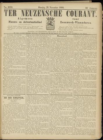 Ter Neuzensche Courant. Algemeen Nieuws- en Advertentieblad voor Zeeuwsch-Vlaanderen / Neuzensche Courant ... (idem) / (Algemeen) nieuws en advertentieblad voor Zeeuwsch-Vlaanderen 1895-11-26