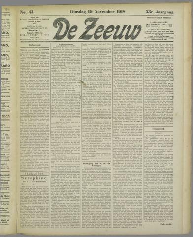 De Zeeuw. Christelijk-historisch nieuwsblad voor Zeeland 1918-11-19