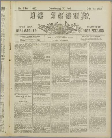 De Zeeuw. Christelijk-historisch nieuwsblad voor Zeeland 1910-06-30