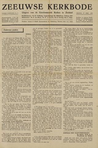 Zeeuwsche kerkbode, weekblad gewijd aan de belangen der gereformeerde kerken/ Zeeuwsch kerkblad 1948-08-27