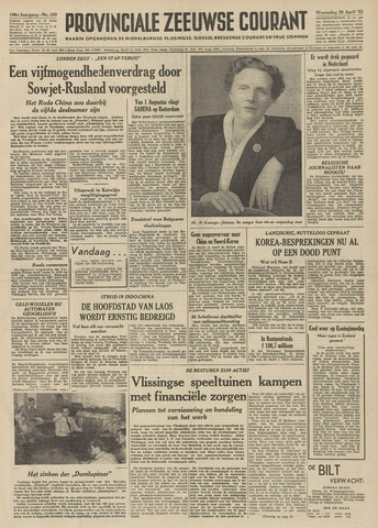 Provinciale Zeeuwse Courant 1953-04-29