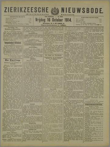 Zierikzeesche Nieuwsbode 1914-10-16