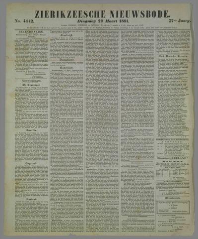 Zierikzeesche Nieuwsbode 1881-03-22