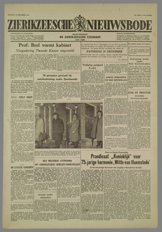Zierikzeesche Nieuwsbode 1958-12-22