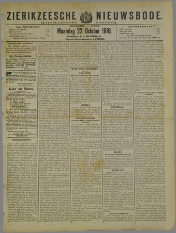 Zierikzeesche Nieuwsbode 1916-10-22