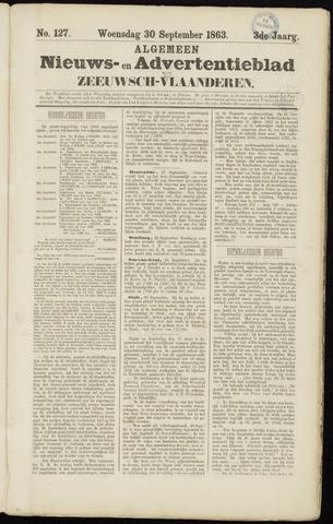 Ter Neuzensche Courant. Algemeen Nieuws- en Advertentieblad voor Zeeuwsch-Vlaanderen / Neuzensche Courant ... (idem) / (Algemeen) nieuws en advertentieblad voor Zeeuwsch-Vlaanderen 1863-09-30