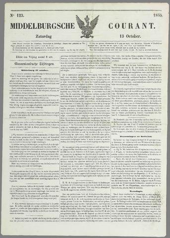Middelburgsche Courant 1855-10-13