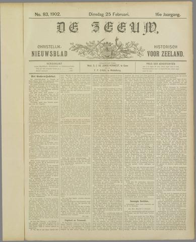 De Zeeuw. Christelijk-historisch nieuwsblad voor Zeeland 1902-02-25