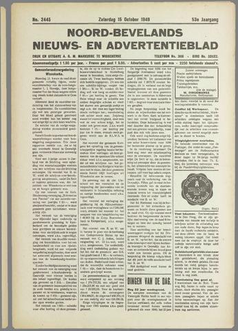 Noord-Bevelands Nieuws- en advertentieblad 1949-10-15