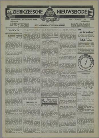 Zierikzeesche Nieuwsbode 1936-12-31