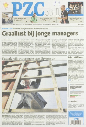 Provinciale Zeeuwse Courant 2009-09-21