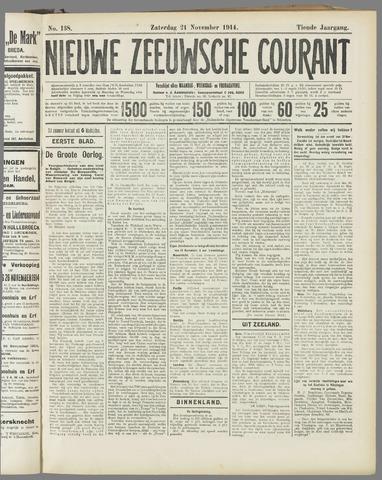 Nieuwe Zeeuwsche Courant 1914-11-21