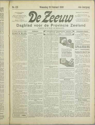 De Zeeuw. Christelijk-historisch nieuwsblad voor Zeeland 1930-02-26