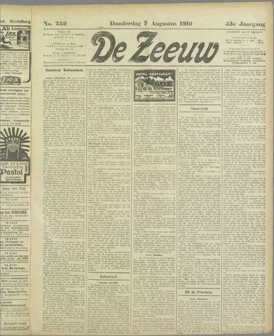 De Zeeuw. Christelijk-historisch nieuwsblad voor Zeeland 1919-08-07