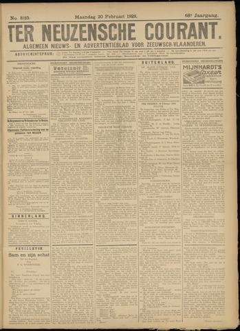 Ter Neuzensche Courant. Algemeen Nieuws- en Advertentieblad voor Zeeuwsch-Vlaanderen / Neuzensche Courant ... (idem) / (Algemeen) nieuws en advertentieblad voor Zeeuwsch-Vlaanderen 1928-02-20