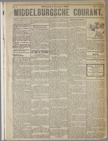 Middelburgsche Courant 1922