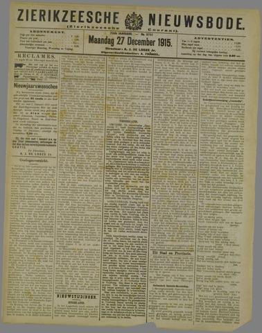 Zierikzeesche Nieuwsbode 1915-12-27