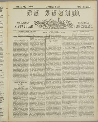 De Zeeuw. Christelijk-historisch nieuwsblad voor Zeeland 1910-07-05