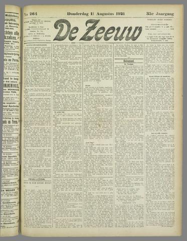 De Zeeuw. Christelijk-historisch nieuwsblad voor Zeeland 1921-08-11