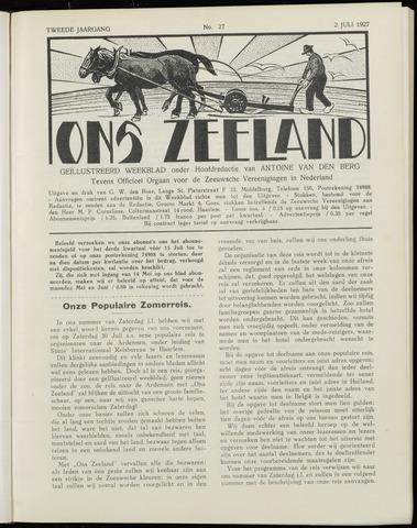 Ons Zeeland / Zeeuwsche editie 1927-07-02