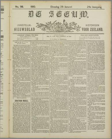 De Zeeuw. Christelijk-historisch nieuwsblad voor Zeeland 1910-01-25