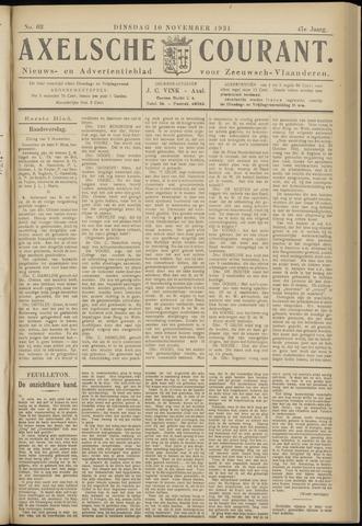 Axelsche Courant 1931-11-10