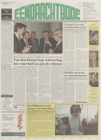 Eendrachtbode (1945-heden)/Mededeelingenblad voor het eiland Tholen (1944/45) 2004-11-18