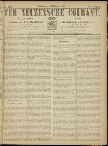 Ter Neuzensche Courant. Algemeen Nieuws- en Advertentieblad voor Zeeuwsch-Vlaanderen / Neuzensche Courant ... (idem) / (Algemeen) nieuws en advertentieblad voor Zeeuwsch-Vlaanderen 1896-02-13