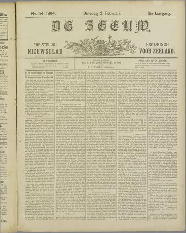 De Zeeuw. Christelijk-historisch nieuwsblad voor Zeeland 1904-02-02