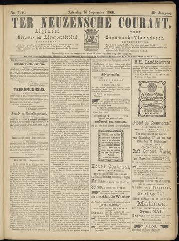 Ter Neuzensche Courant. Algemeen Nieuws- en Advertentieblad voor Zeeuwsch-Vlaanderen / Neuzensche Courant ... (idem) / (Algemeen) nieuws en advertentieblad voor Zeeuwsch-Vlaanderen 1900-09-15