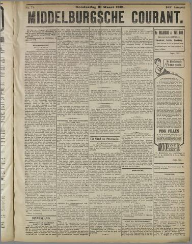Middelburgsche Courant 1921-03-31
