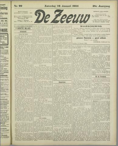 De Zeeuw. Christelijk-historisch nieuwsblad voor Zeeland 1924-01-26