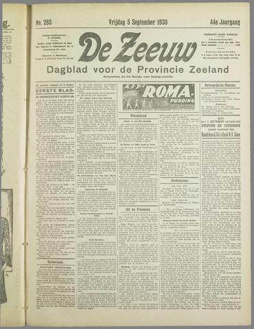 De Zeeuw. Christelijk-historisch nieuwsblad voor Zeeland 1930-09-05