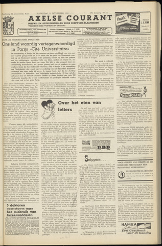Axelsche Courant 1954-11-27